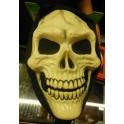 Maschera da teschio con cappuccio nero