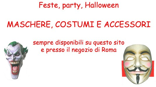 Maschere, costumi, accessori